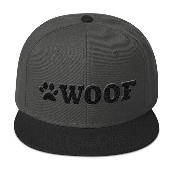 WOOF Snapback 3D Cap (Charcoal Black Black) - WOOF Clothing b9ff2b2e08e8
