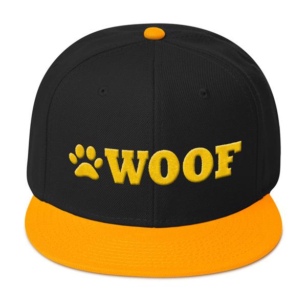 WOOF Snapback 3D Cap (Black Gold Gold) - WOOF Clothing 9d17425bebe2