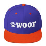 f755748347c WOOF Snapback 3D Cap (Royal Orange White)