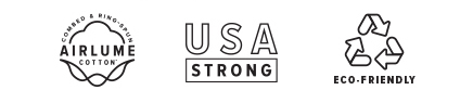 USA Strong Airlume Cotton Eco-Friendly
