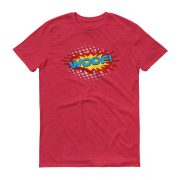 superhero-WOOF-tshirt_mockup_Flat-Front_Heather-Red
