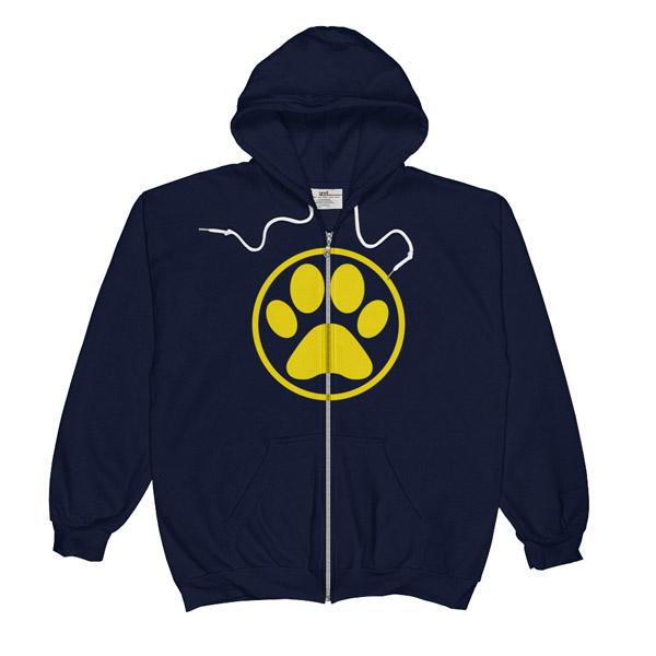 Paw print hoodie