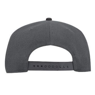 WOOF Wool Blend Snapback Cap - Charcoal/Black Back